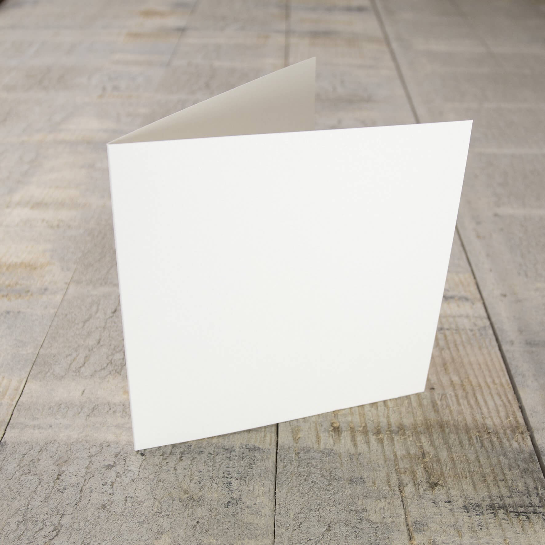 Creased Card Small Square - Ivory Sparkle
