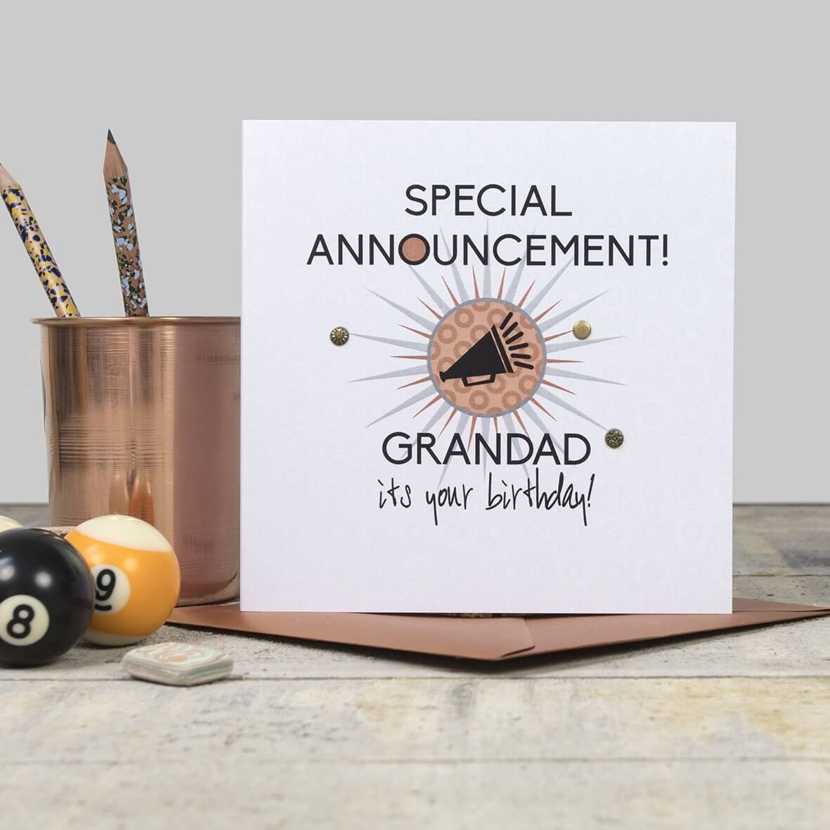 Special Announcement - Grandad it's your Birthday!