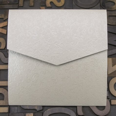 Enfolio Pocketfold (Lg Sq) - Applique Ivory - Plan View