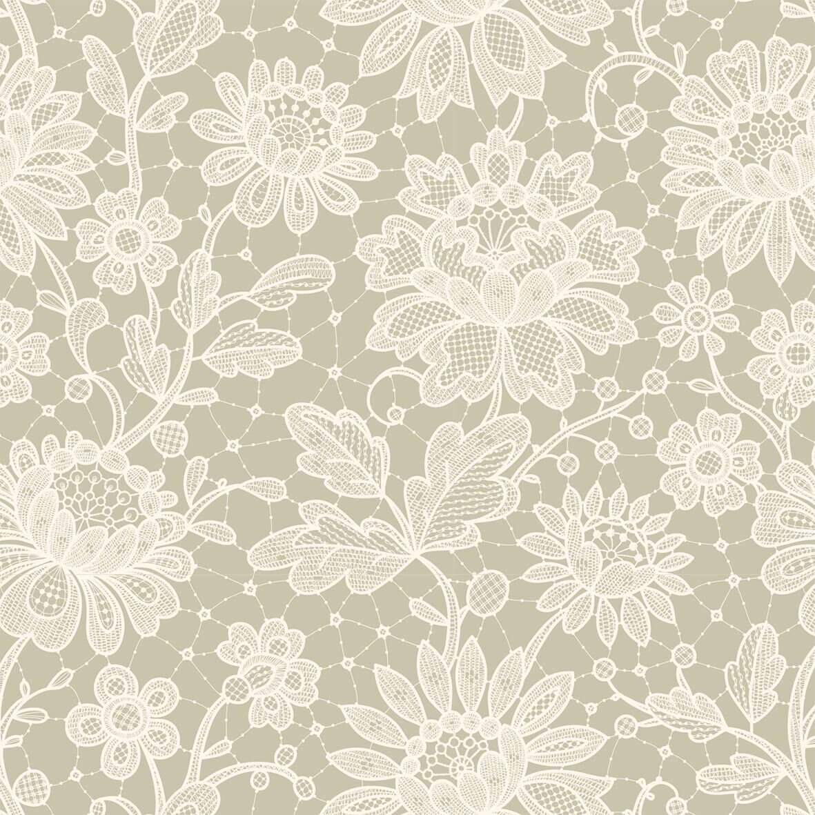 Duchesse Lace Ivory Decorative A3 Paper - Zoom