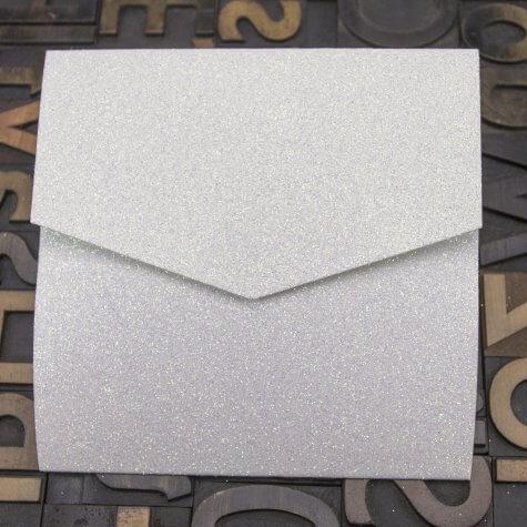 Enfolio Pocketfold (Lg Sq) - Champagne Supernova Glitter Card