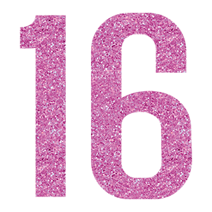 number 16 birthday png