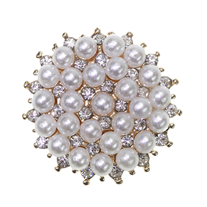 Pearly Dream Gold Diamante and Pearl Embellishment