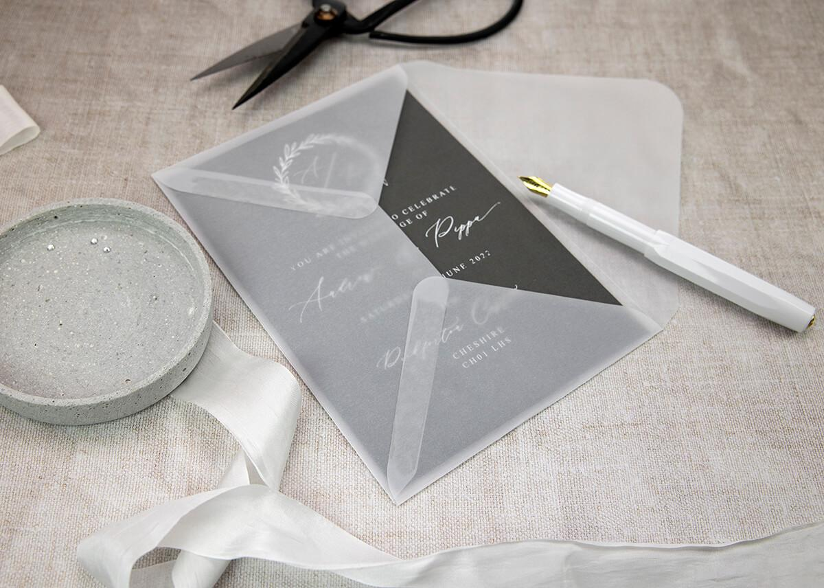 New Vellum Papers for Wedding Invitations