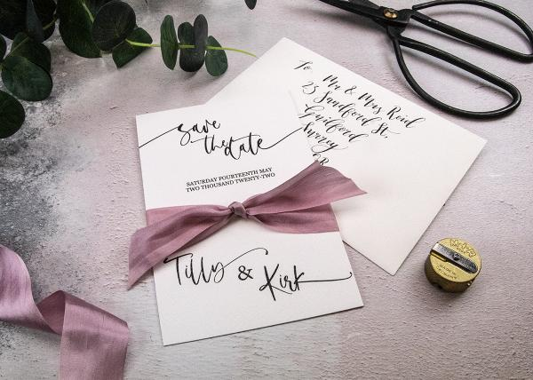 Calligraphy Save the Date Card Tutorial and Recipe