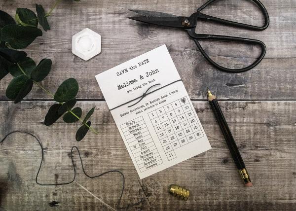 Calendar Save the Date Card Tutorial and Recipe