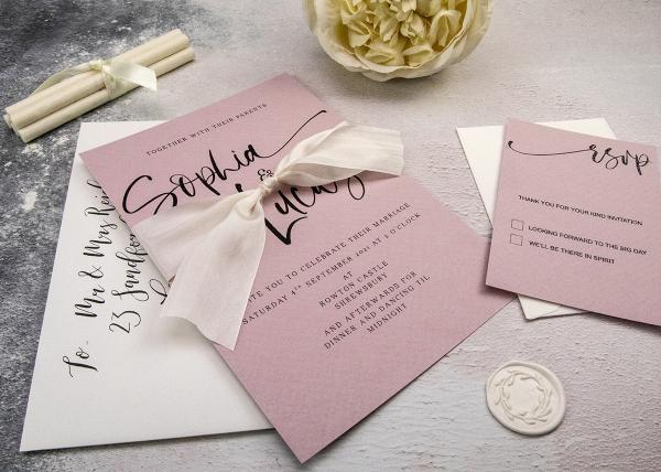 Calligraphy Style Wedding Invitation Tutorial and Recipe