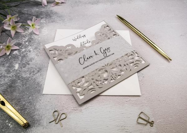 Wallet Lasercut Wedding Invitation Tutorial with Belly Band