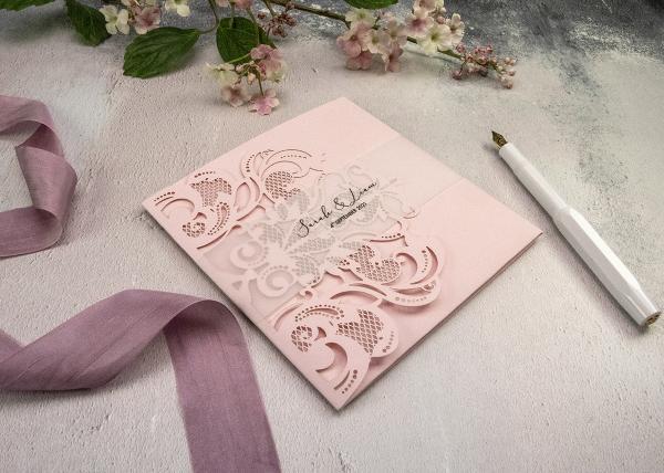 Lasercut Baroque Pocketfold Invitation Tutorial and Recipe