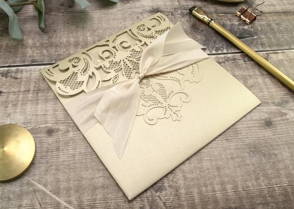 Baroque Pocketfold Laser Cut Invitation Tutorial and Recipe