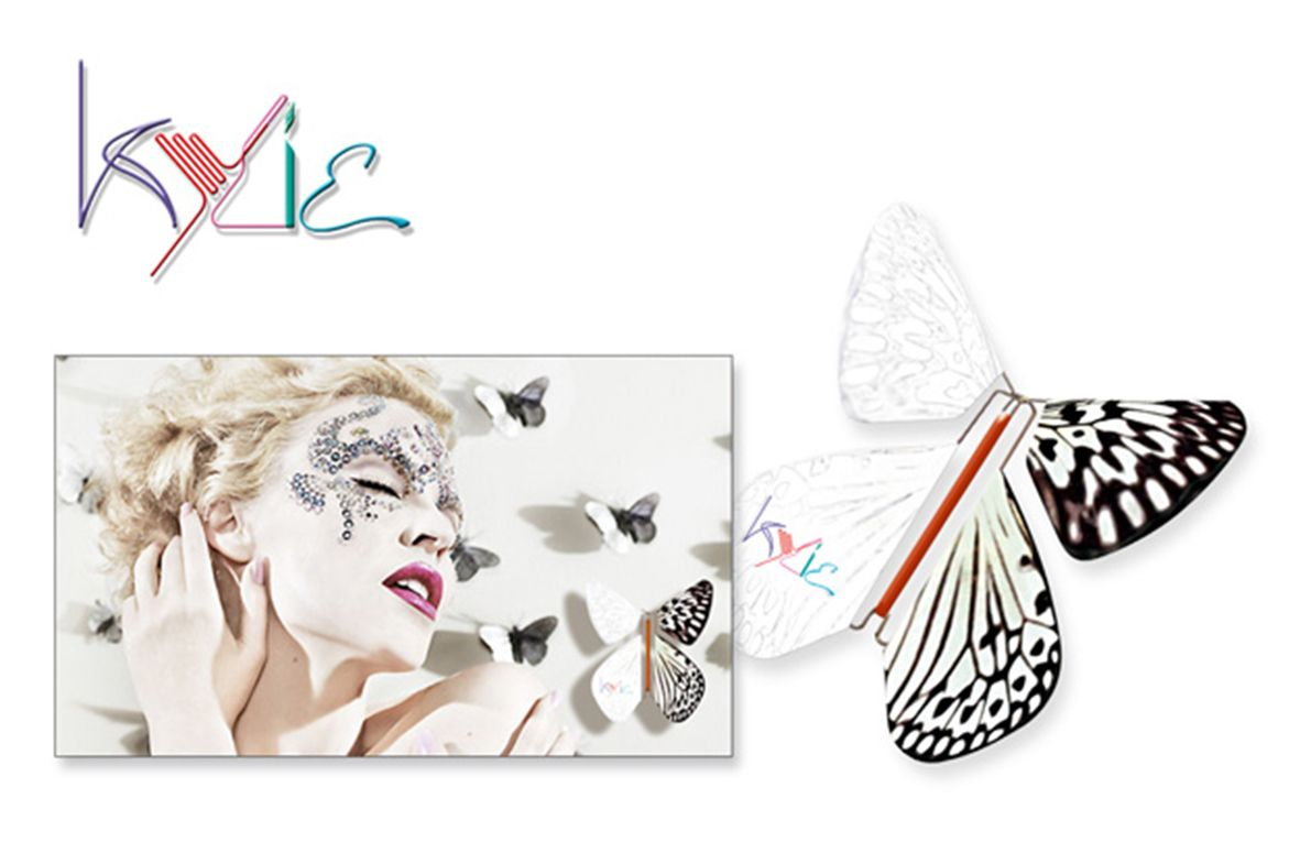 Kylie Magic Flyer Butterfly Promotion