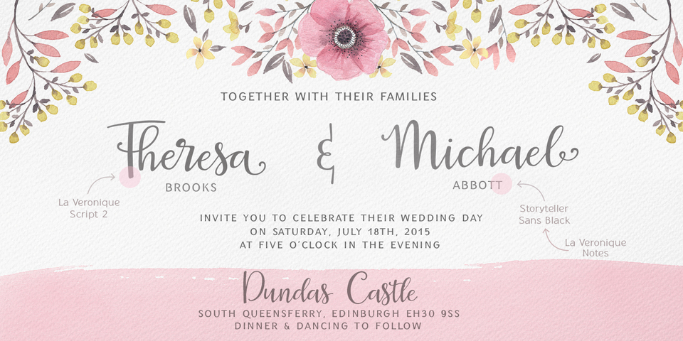 Wedding stationery fonts wow vow font combinations stopboris Images