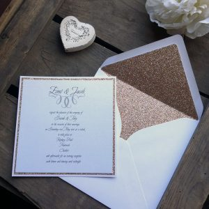 On opening your wedding invitation there's a feast of sparkle.