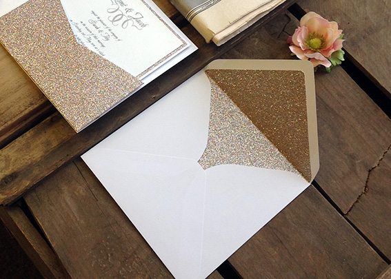 Envelope liners add a real 'wow' factor to your wedding invitations.
