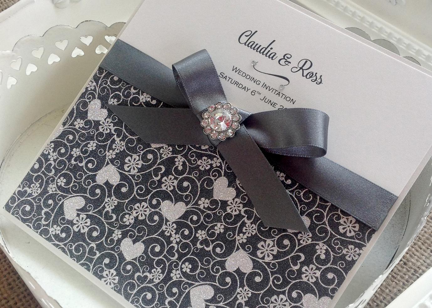 Start 2018 in style  Glitter wedding invitations & more