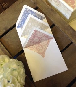 Envelope liners for 'Weddings with Wow'