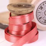 Berisfords Glitter Satin Ribbon 10mm - Coral colour