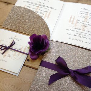 Glitter DIY Wedding Invitation
