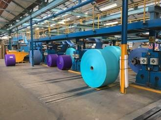 The scale of the paper rolls formed in the paper making process.