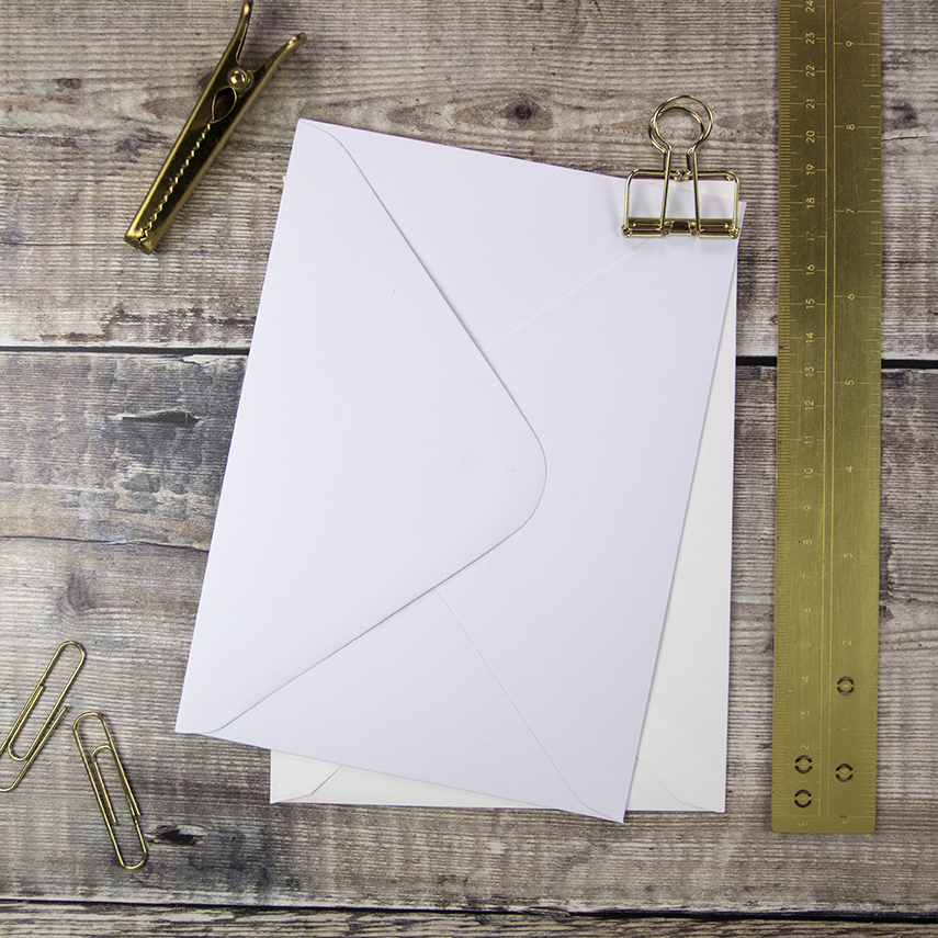 "Our 'Classic' envelope ideal for the 5"" x 7"" invitation"