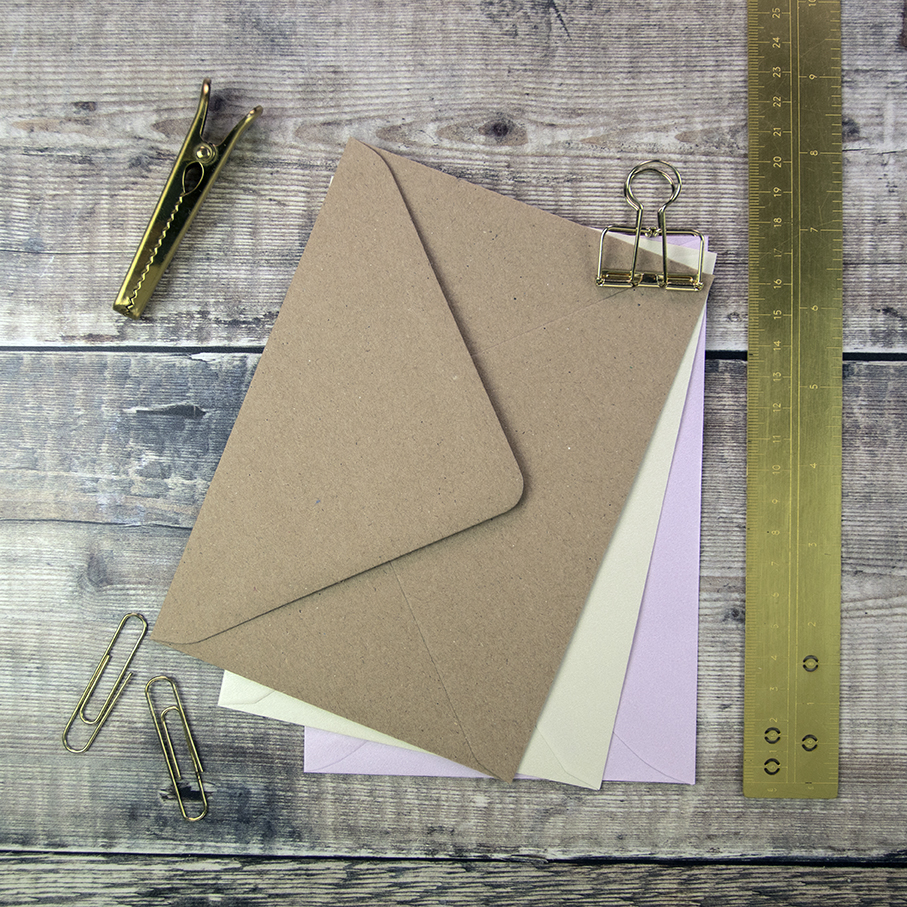 125 x 175mm envelopes, perfect for wedding invitation and wedding stationery suites.