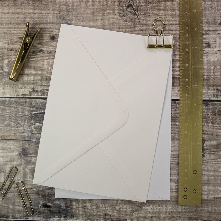 The perfect fit envelopes for A5 cards and wedding stationery.