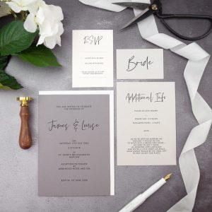 Classic, simple invitation designs