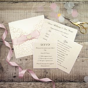 Mandy also includes laser cut wedding stationery within her portfolio.