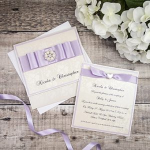 Handmade wedding invitations by Mandy price of Elegant Creations.