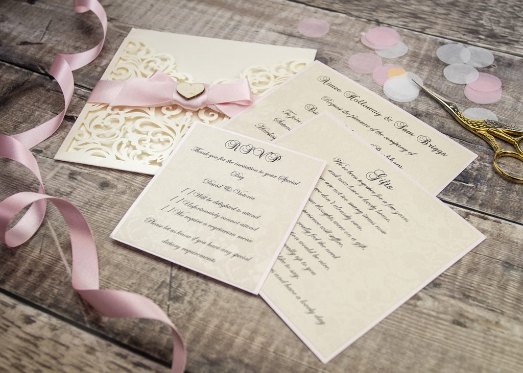 Beautiful laser cut wedding stationery by Mandy price of Elegant Creations.