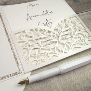 Stunning Pocketfold wedding invitations