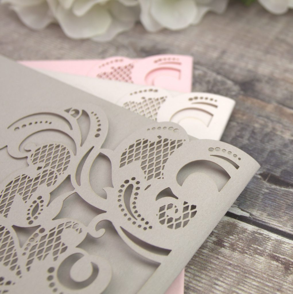 Beautiful lasercuts to match your wedding colours.