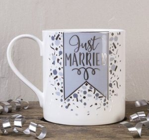 Bone china mugs for wedding presents