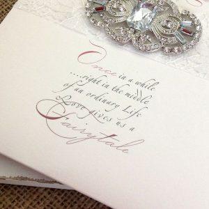 Stunning, embellished wedding stationery