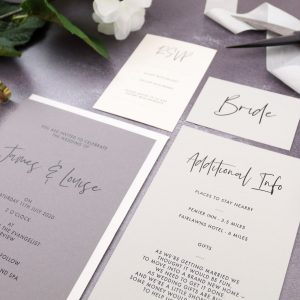 printed wedding stationery