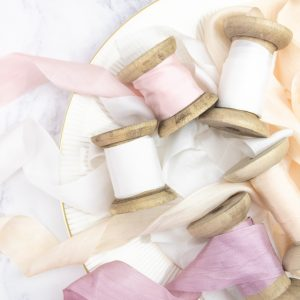 Beautiful subtle colours of wide silk ribbon