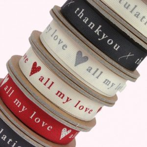 Printed ribbons for special occasions