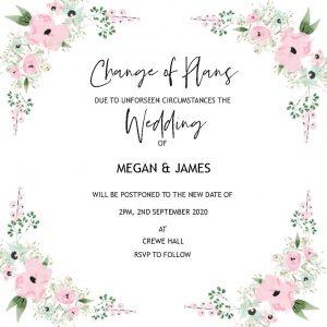 Wedding Change of Plans Card