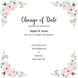 Wedding Change of Date Card