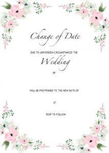 Wedding Change of Plans A6 Postcard