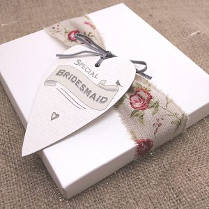 Thank your bridesmail with a special hand-made card