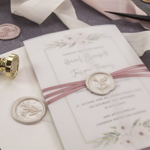 protect wax seals with invitation boxes