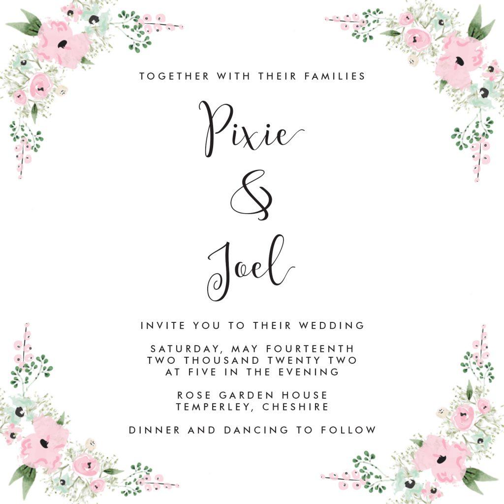 Wedding Fonts - Amberlight and Futura