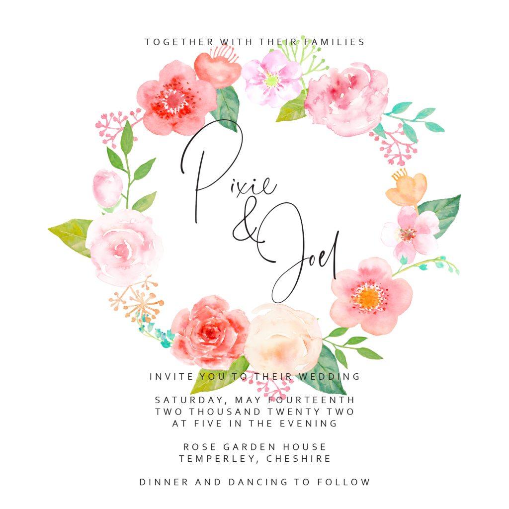 Wedding fonts - Santorini and Corbel