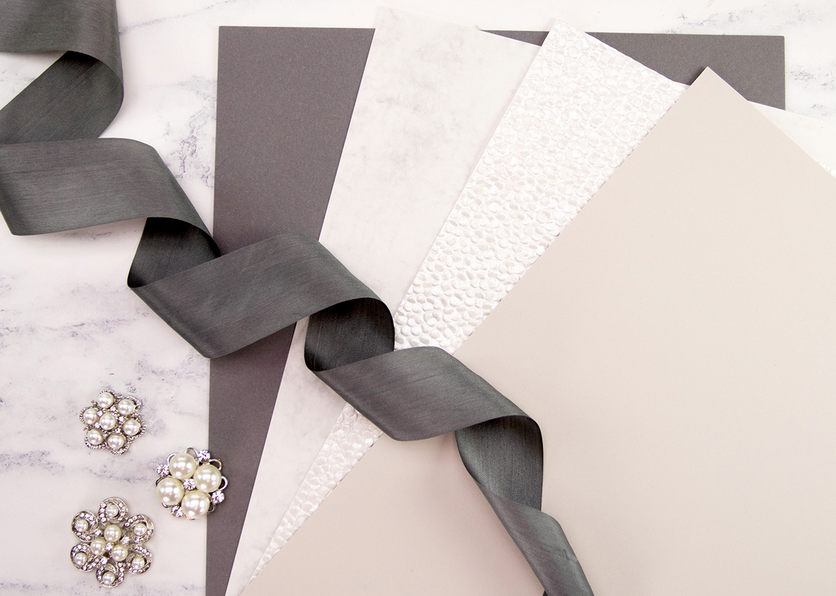 Craft materials for card making.