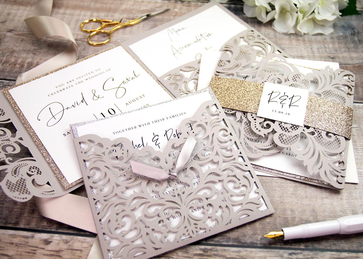 Intricate Lasercut Wedding Invitations