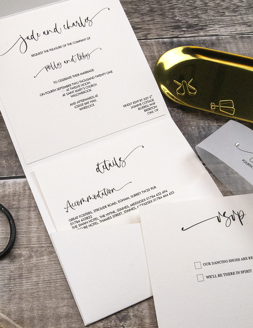 Choosing the wording for your wedding invites.