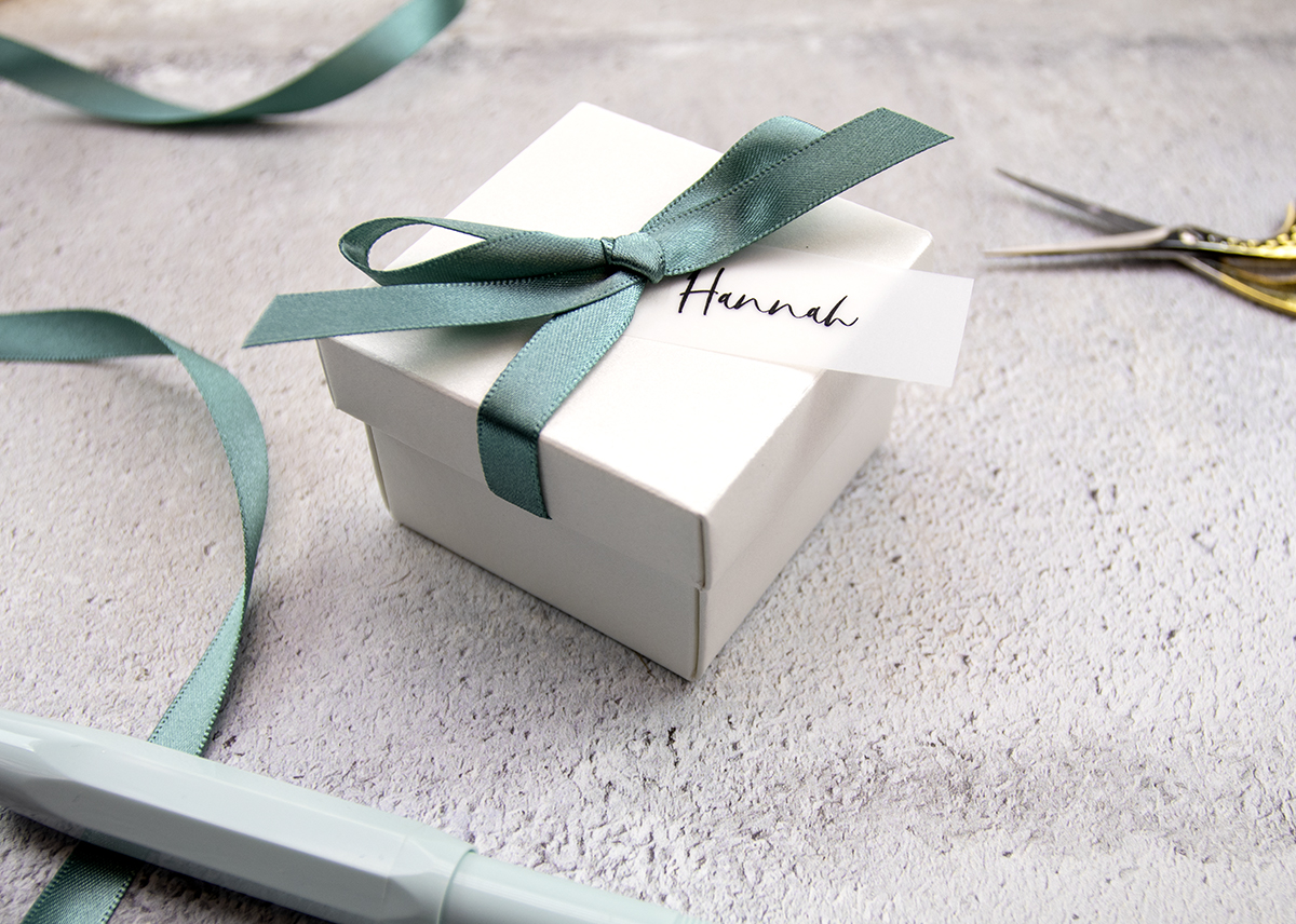 Wedding Favour Box with Ribbon