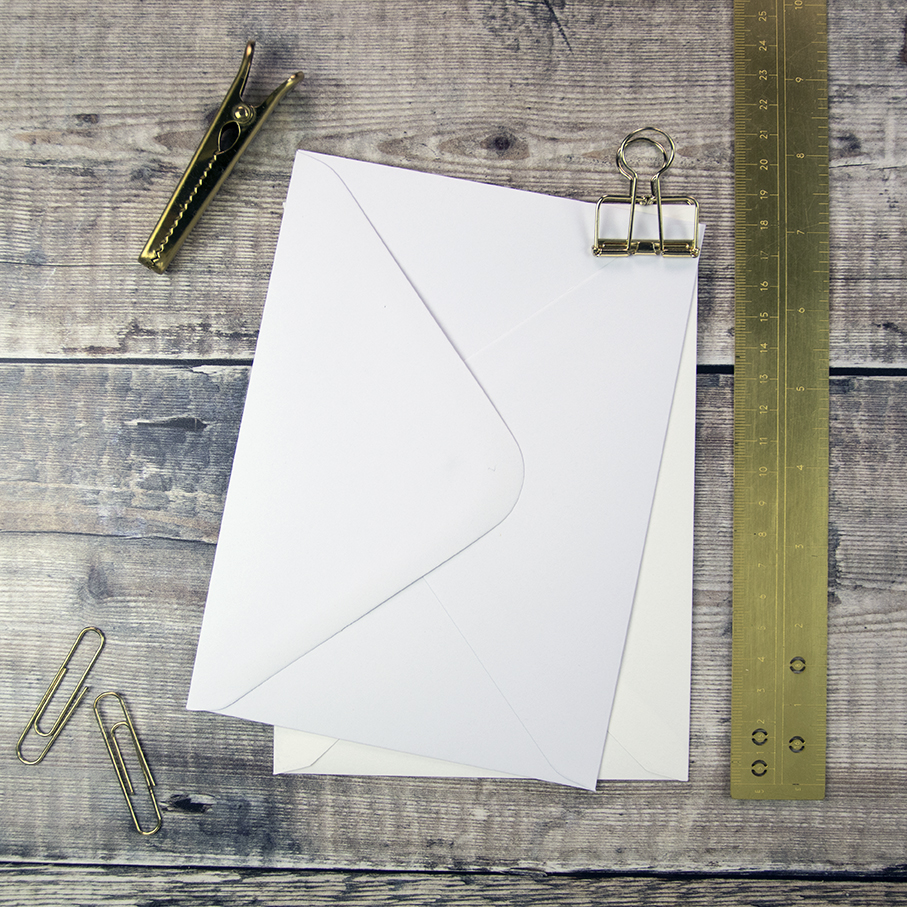 133 X 184mm Classic Wedding Invitation Envelopes.