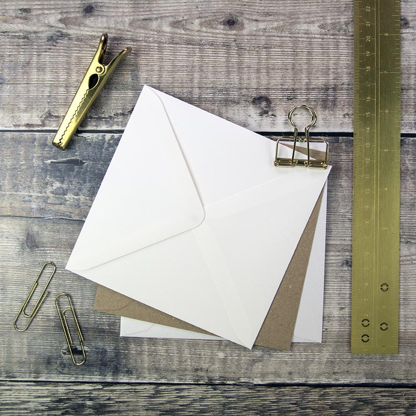 130mm Square Wedding Envelopes.